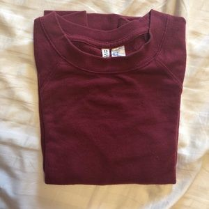 H&M maroon crew neck sweater size XS